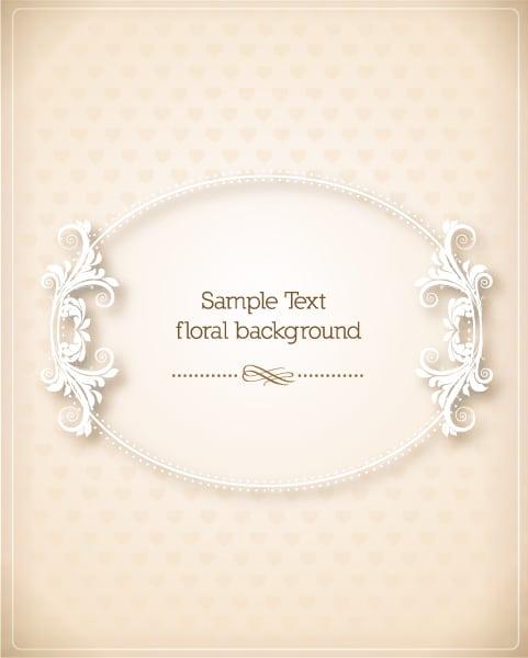 Floral, New, Illustration Vector Design Floral Frame Vector Illustration  Floral Frame 1