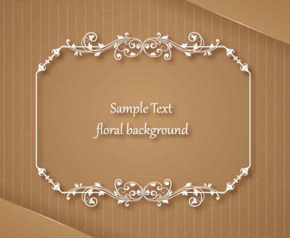 Download Frame Vector Graphic: Floral Frame Vector Graphic Illustration With Floral Frame 1