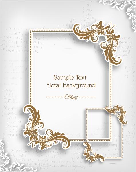 Frame, Floral Vector Design Floral Frame Vector Illustration  Floral Frame 2015 05 05 772