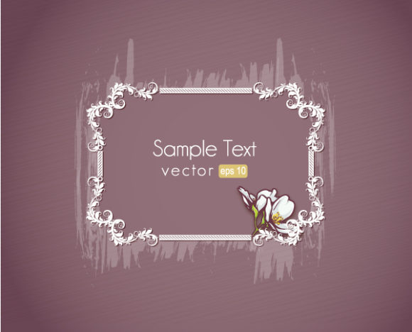 Gorgeous Frame Vector Design: Floral Frame Vector Design Illustration With Floral Frame 5
