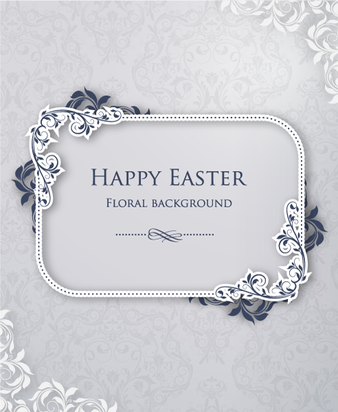 Smashing Frame Vector Graphic: Easter Vector Graphic Illustration With Floral Frame 1