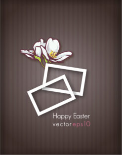 easter vector illustration with easter floral and frames Vector Illustrations vector