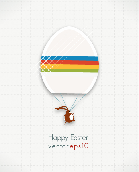 Download Bunny Vector Graphic: Easter Vector Graphic Illustration With Easter Egg And Bunny 1