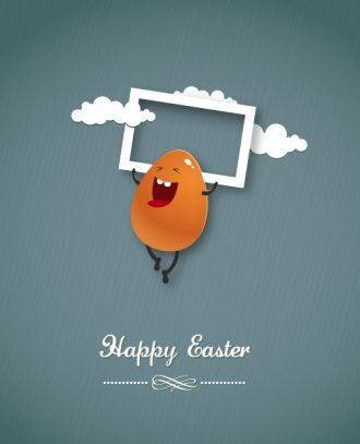 easter vector illustration with easter egg Vector Illustrations vector