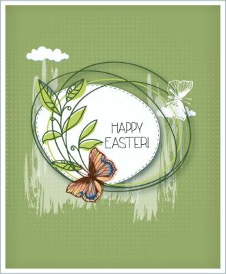 easter vector illustration with floral frame Vector Illustrations vector