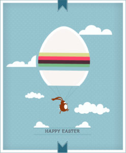 easter vector illustration with easter egg and bunny Vector Illustrations vector