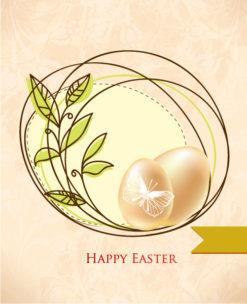 easter vector illustration easter frame and eggs Vector Illustrations floral
