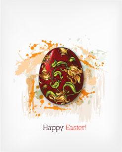 easter vector illustration with easter egg Vector Illustrations floral