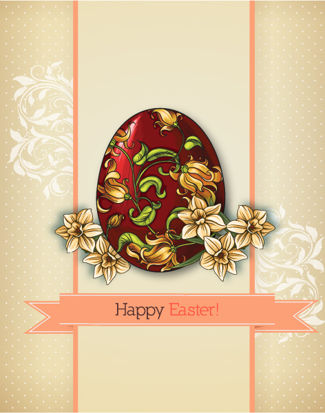 Lovely Paper Vector Art: Easter Vector Art Illustration With Easter Egg 2015 05 05 822