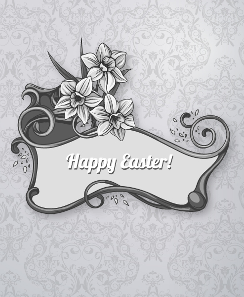 Amazing Easter Vector Graphic: Easter Vector Graphic Illustration With Easter Frame 2015 05 05 823