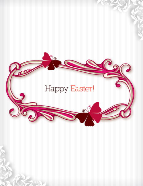 Insane Frame Vector Graphic: Easter Vector Graphic Illustration With Easter Frame 2015 05 05 827
