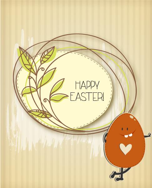 Sticker, Easter Vector Illustration Easter Vector Illustration  Easter Egg  Spring Flowers 2015 05 05 829