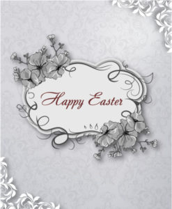 easter vector illustration with easter floral frame Vector Illustrations floral