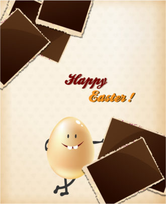 easter vector illustration with easter egg and photo frames Vector Illustrations floral