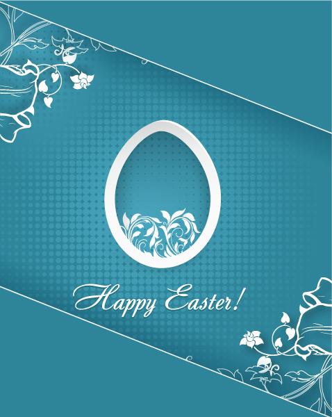 Best Cloud Eps Vector: Easter Eps Vector Illustration With Sticker Easter Egg 3