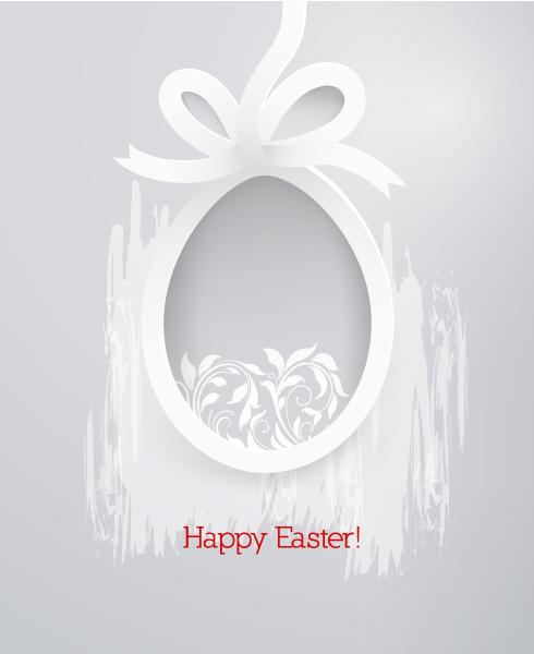 Easter, Paper Vector Easter Vector Illustration  Sticker Easter Egg 3