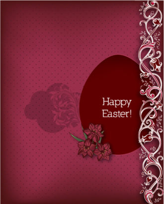 easter vector illustration with easter egg Vector Illustrations floral