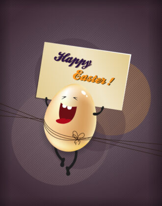 easter illustration with easter egg Vector Illustrations vector