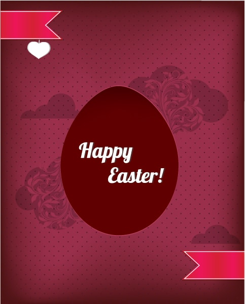 Illustration Vector: Easter Illustration With Easter Egg And Ribbon 2015 05 05 851