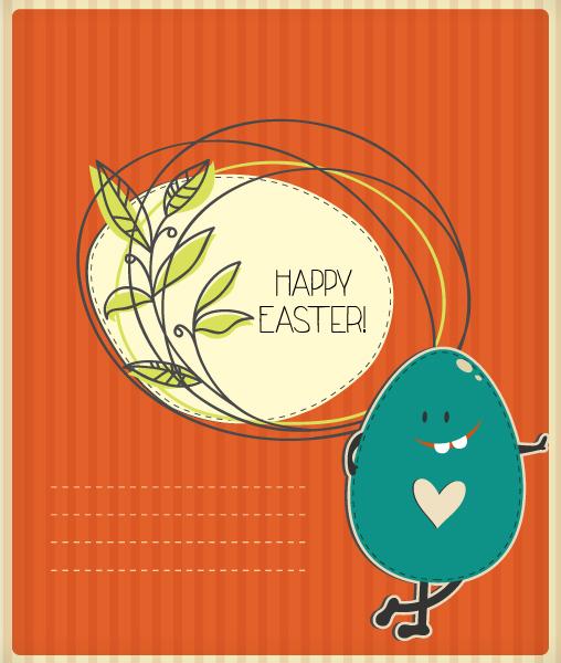Illustration Vector Image: Easter Illustration With Easter Egg 3
