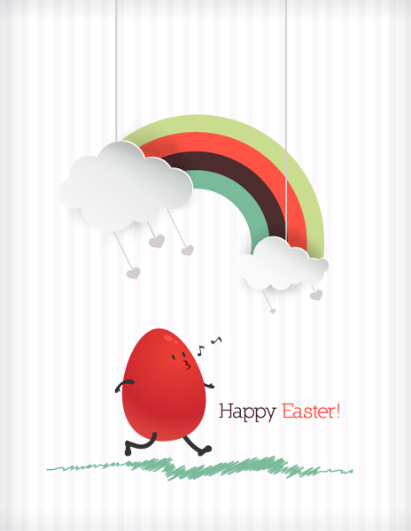 easter illustration with easter egg Vector Illustrations [tag]
