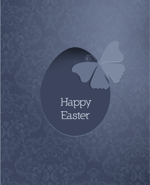 easter illustration with flowal background 3