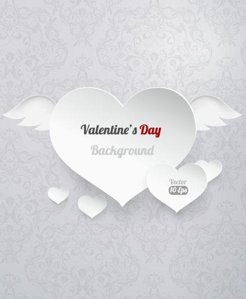 valentine's day vector illustration with hart Vector Illustrations vector