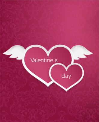 valentine's day vector illustration with paper hart Vector Illustrations vector