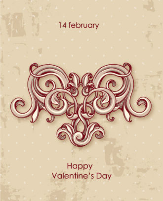valentine's day vector illustration with flower hart Vector Illustrations vector