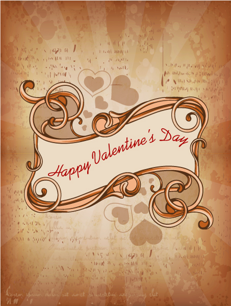 Valentine's Day vector illustration with floral frame Vector Illustrations floral