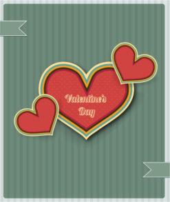 Valentine's Day vector illustration Vector Illustrations old