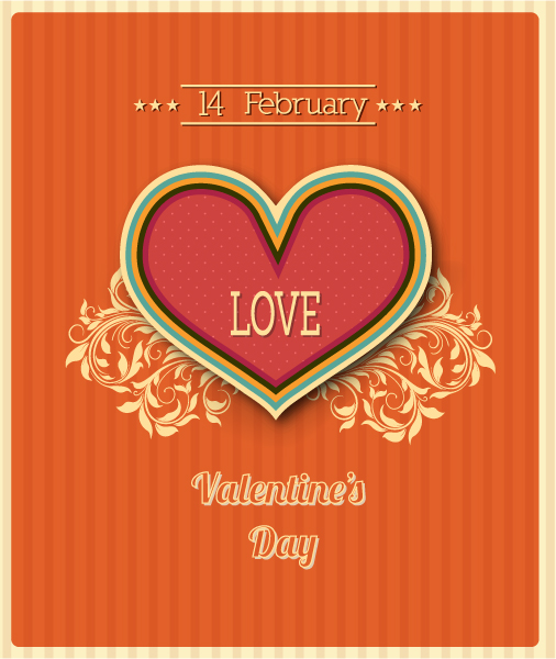 Valentine's Day vector illustration Vector Illustrations floral