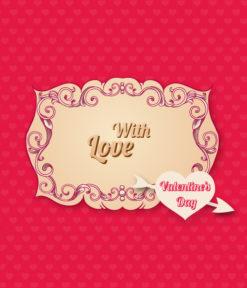 Valentine's Day vector illustration Vector Illustrations floral