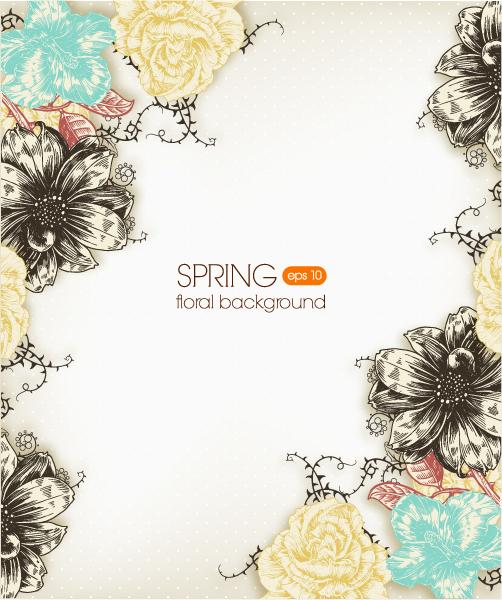 Plant Vector Image Floral Background Vector Illustration  Spring Flowers 2015 05 05 944
