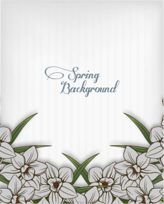 floral background vector illustration with spring flowers Vector Illustrations floral