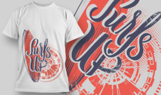 designious-tshirt-design-1470 T-shirt Designs and Templates t-shirt, vector, sufs up, summer, vintage, heat