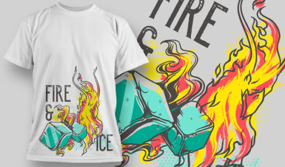 designious-tshirt-design-1472 T-shirt Designs and Templates t-shirt, vector, fire and ice, fire & ice, pop culture collection