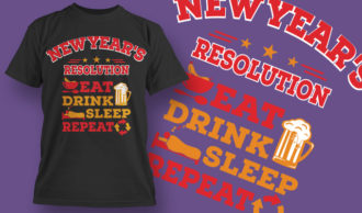 designious-tshirt-design-1525 T-shirt Designs and Templates t-shirt, vector, new year, new year resolution, happy new year, funny