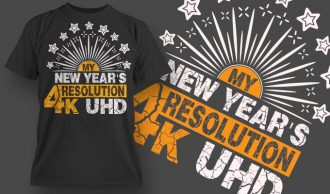 New Year Resolution Free T-shirt Design 1526 Freebies vector