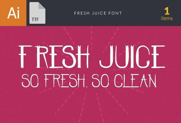 Free T-shirt Design Creator Tool fonts fresh juice small1