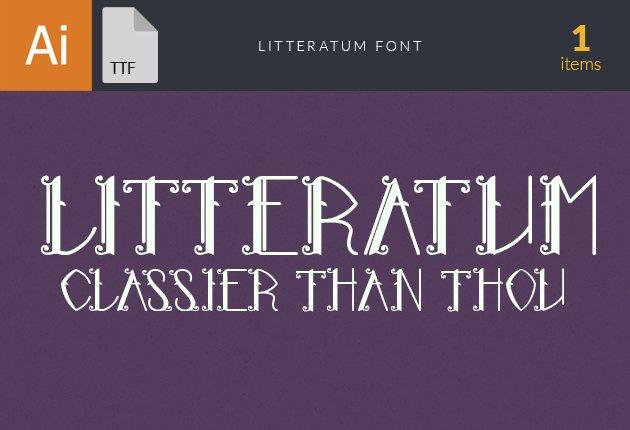 Free T-shirt Design Creator Tool fonts litteratum small1