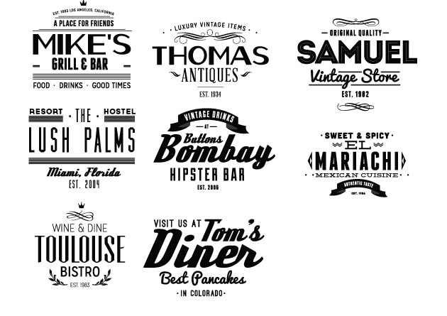 Vintage Creative Typographic Collection typebadges2 expanded Converted