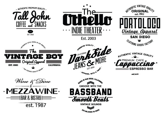 Vintage Creative Typographic Collection typebadges3 expanded Converted