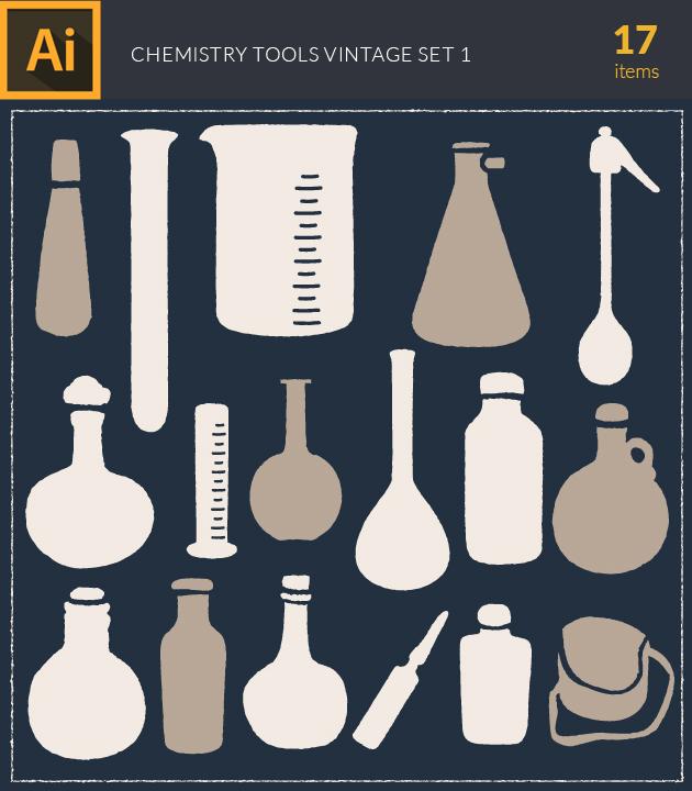 Free T-shirt Design Creator Tool vector chemistry vintage vector set1