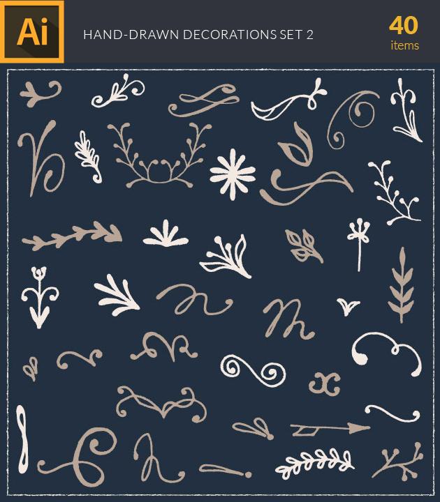Free T-shirt Design Creator Tool vector hand drawn decorations vintage vector set 2