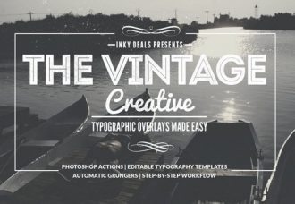 Vintage Creative Typographic Collection Freebies typography