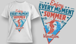 T-shirt Design 1602 T-shirt designs and templates vacation