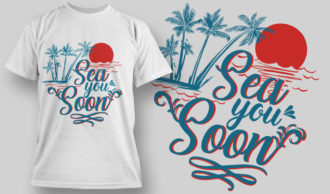 T-shirt Design 1603 T-shirt Designs and Templates vacation