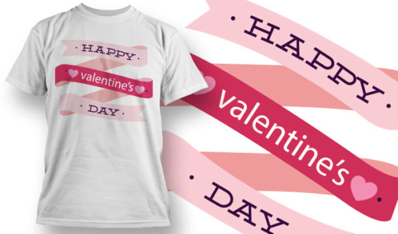 Valentines Day T-Shirt Design 1 T-shirt Designs and Templates vector