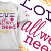 Valentines Day T-Shirt Design 13 T-shirt Designs and Templates vector